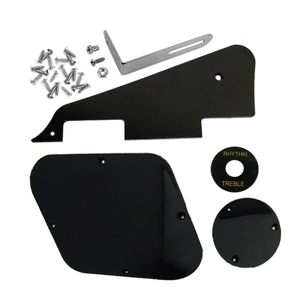 1set Black Pickguard /Cavity /Switch Covers/Pickup Selector Plate /Bracket/Screws for LP Guitar Style