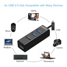 3 Ports USB HUB with TF Card Reader for Laptop