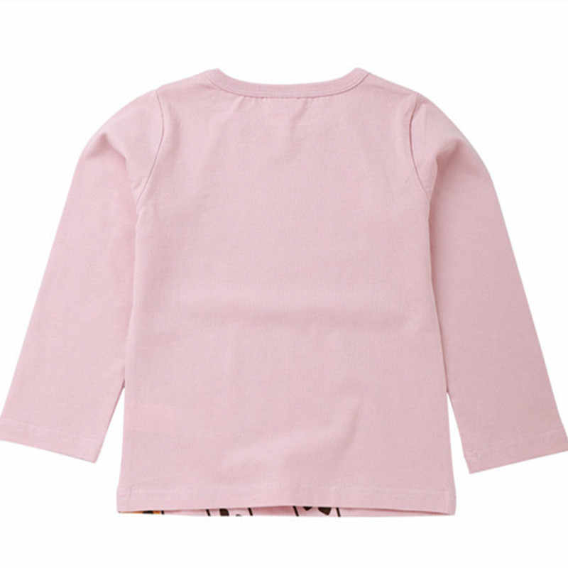 女の赤ちゃんトップス子供 tシャツ長袖 2018 秋の子供 Tシャツかわいい漫画キリン Tシャツ子供ブラウス