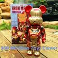 Be @ rbrick Bearbrick Vinilo Muñeca Diy OriginalFake Kaws 400% Figura de Acción de Juguete Iron Man Bloques Oso Día de San Valentín 28 cm CAJA AL POR MENOR