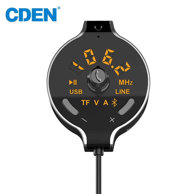 無線車のbluetooth fmトランスミッタカーキットハンズフリー通話mp3プレーヤーバッテリー電圧表示サポートデュアルauxケーブルusb