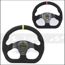 OMP voiture Sport volant de course type haute qualité universel 13 pouces 320 MM aluminium + daim noir