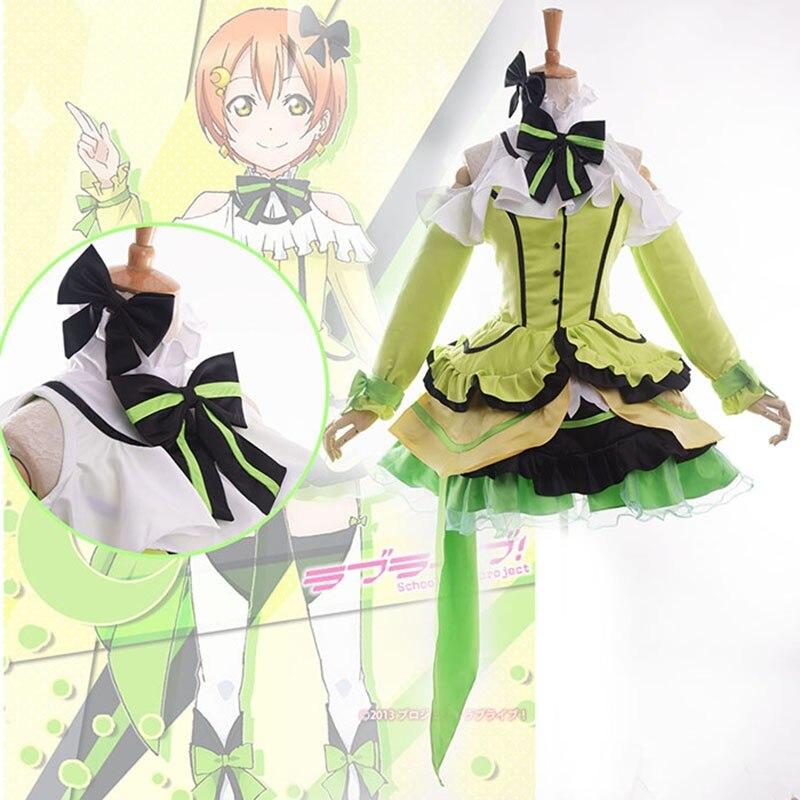 Love Live! School Idol Project KiRa-KiRa Sensation! Rin Hoshizora Cosplay Costume U's Music Stage Costume Lolita Dress