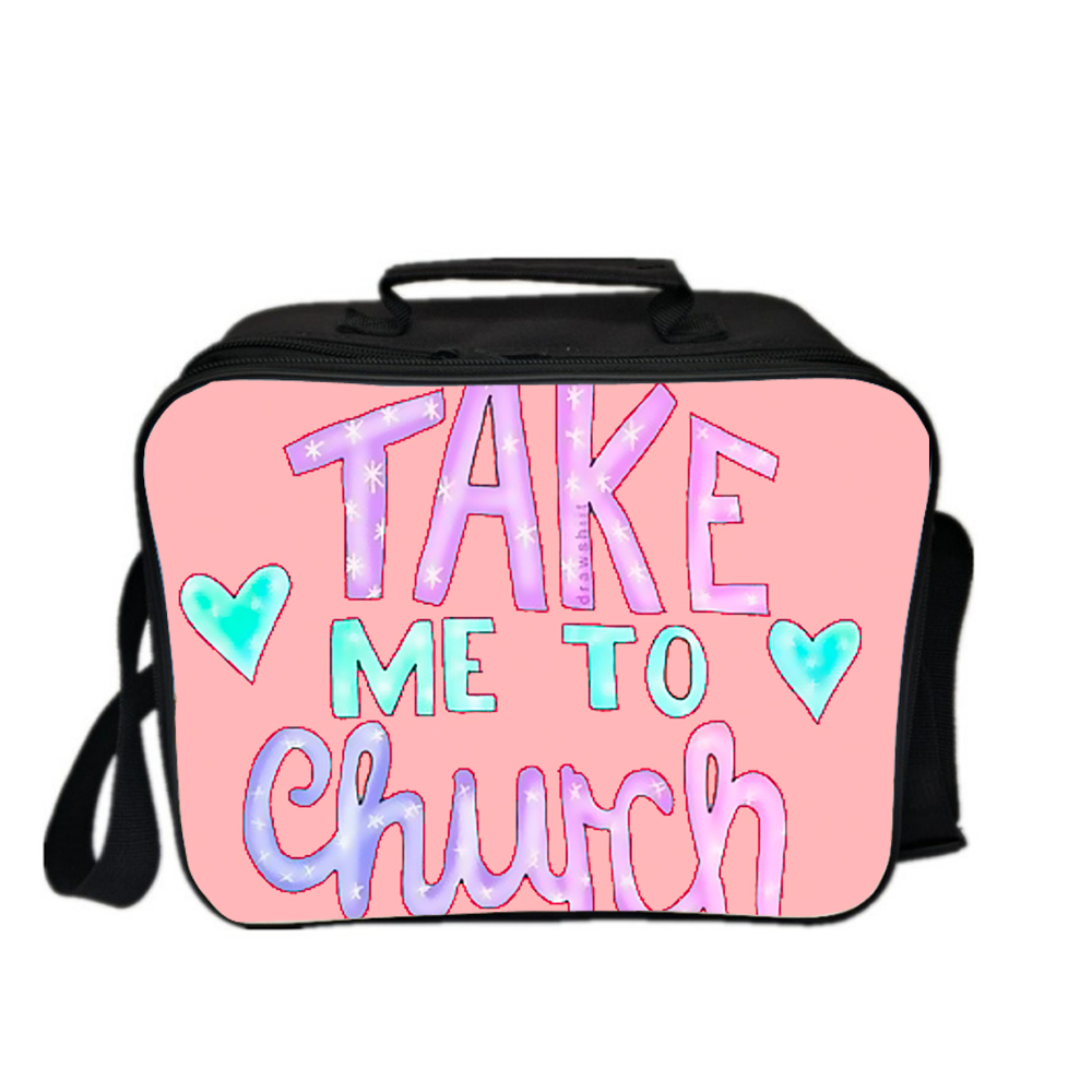 529b402dec42 US $17.99 |tumblr TAKE ME THURCH funny words lunch bags for girls ice bag  wine cooler totes picnic food storage lunch box for students kids-in Cooler  ...