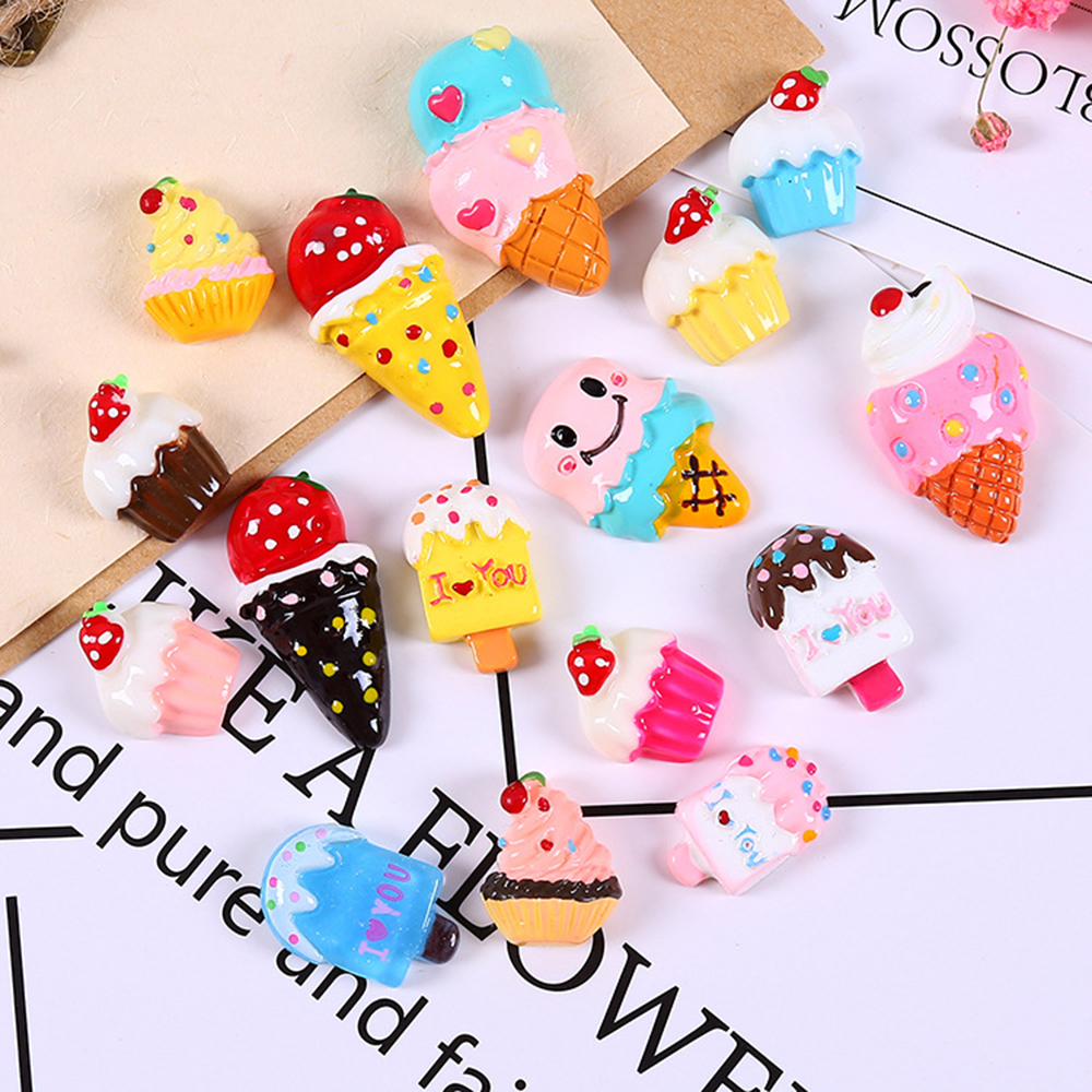 5/10Pcs Ice Cream Fluffy Slime Supplies DIY Plasticine Addition Accessories Soft Polymer Clay Toys Gift For Slime Decoration Kit