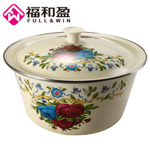 1PCS Hot Sale Finger Bowl Large Capacity Hand pilaf bowl Multi-purpose kichen Storage Container Easy Clean Made of Enamel