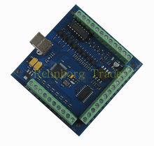 Бесплатная доставка 100 КГц ЧПУ mach3 USB 4 Оси Шагового Двигателя Плате Контроллера USBCNC Гладкой Шагового Движения Контроллера карты 24 В