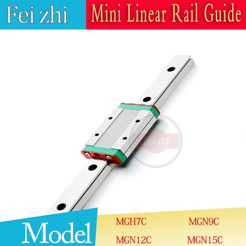 3D parti di stampa di Guida Lineare MGN9 L = 100 200 300 350 400 500 ~ 800 millimetri guida di guida Lineare + MGN9C o MGN9H scorrimento lineare parti cnc