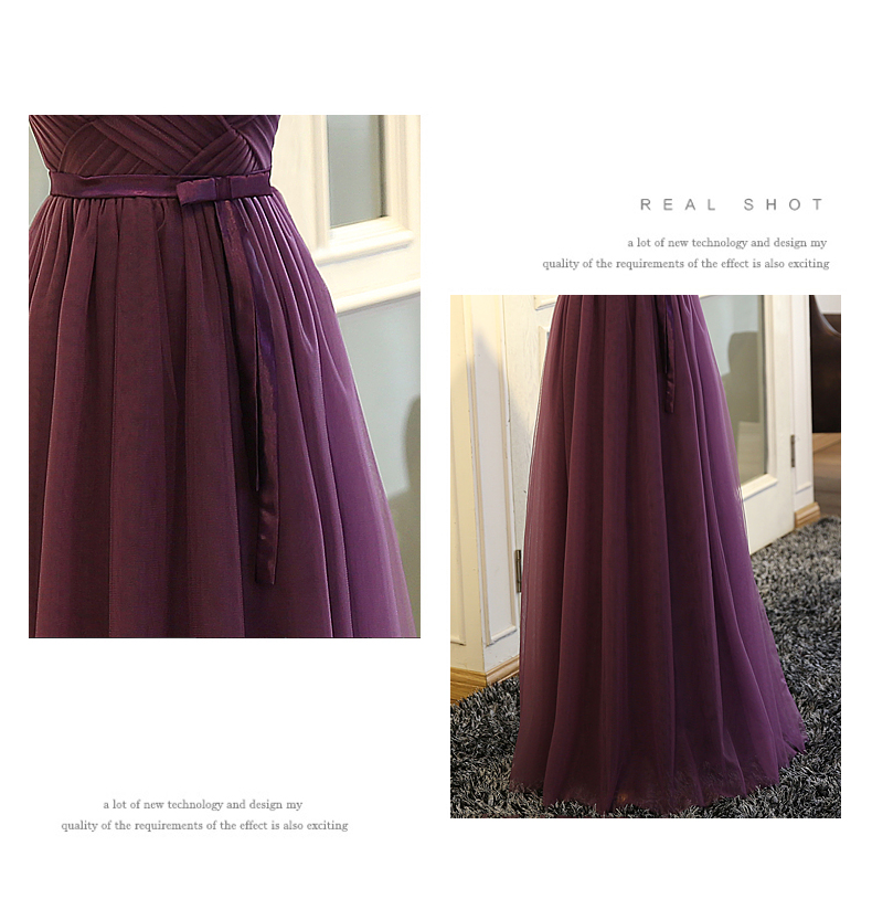 SOCCI Weekend Strapless Purple Long Evening Dress Charming Tulle Burgundy Evening Gown Formal Wedding Reception Vestido de Longo 10