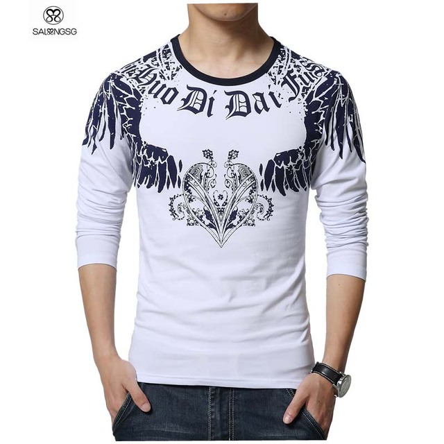 Brand designer t shirt men fashion 2016 new men tshirt for Luxury t shirt printing
