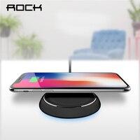 Рок Ци Беспроводное зарядное устройство для iPhone X 10 8 Samsung Note 8 S8 плюс S7 S6 край телефон для быстрой зарядки pad Quick Charge smart usb док