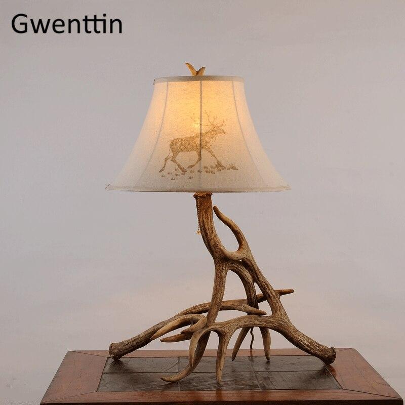 Analytisch Moderne Hars Herten Tafel Lampen Vintage Bureaulamp Voor Woonkamer Naast Slaapkamer Lamp Thuis Art Deco Led Verlichtingsarmaturen Luminarias