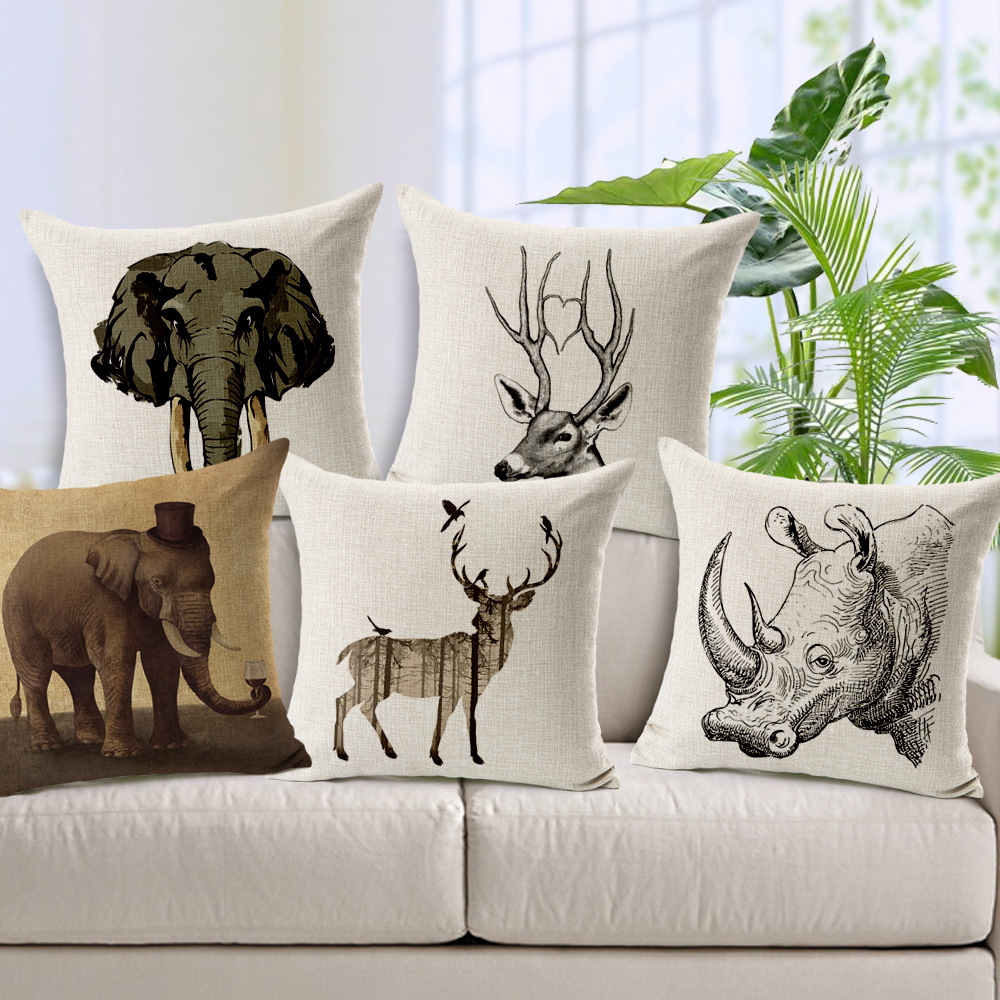 online buy wholesale modern couch pillows from china modern couch  - christmas deer elk cushions home decor modern couch pillows best qualitydecorative throw pillows sofa car