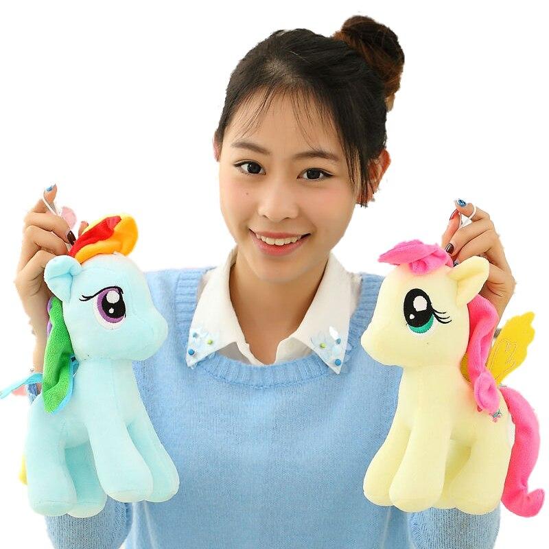 1 adet 25 cm minecraft benim sevimli güzel küçük atı oyuncak Peluş oyuncaklar poni Unicorn Çocuklar için bebek oyuncaklar christams günü Oyuncak yumuşak bebekler