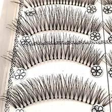 Wispies Eyelashes Long-Makeup SHIDISHANGPIN Natural 10-Pairs L11 1-Box Synthetic-Hair