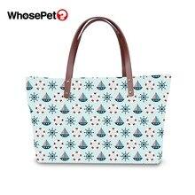 WHOSEPET Fashion Top-handle Bags for Women Shivering Pattern Female Floral Fruit Print Large Capacity Crossbody Handbag