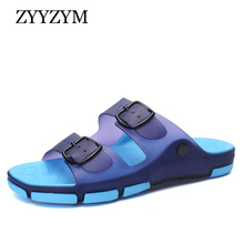Men Slippers 2017 New Summer Fashion Ventilation Light Casual Beach Flat Sandals Large size Hot Sales