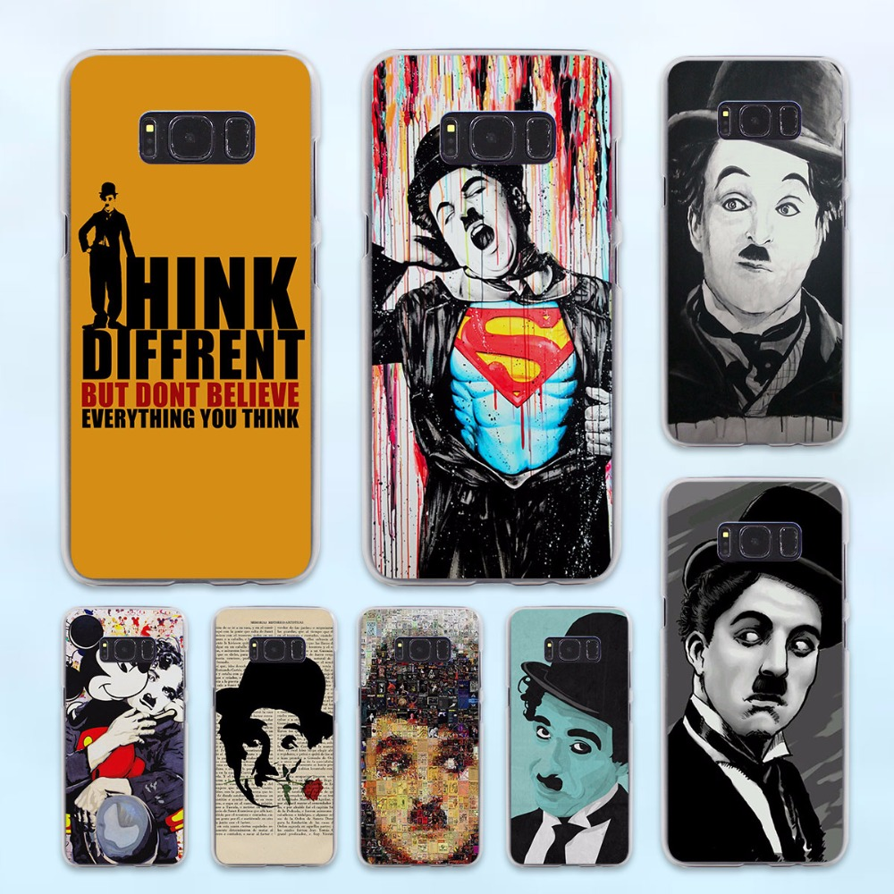 Charles Chaplin positive thoughts design hard transparent Case for Samsung Galaxy S8 Plus S6 S7 edge s5 note 5 4