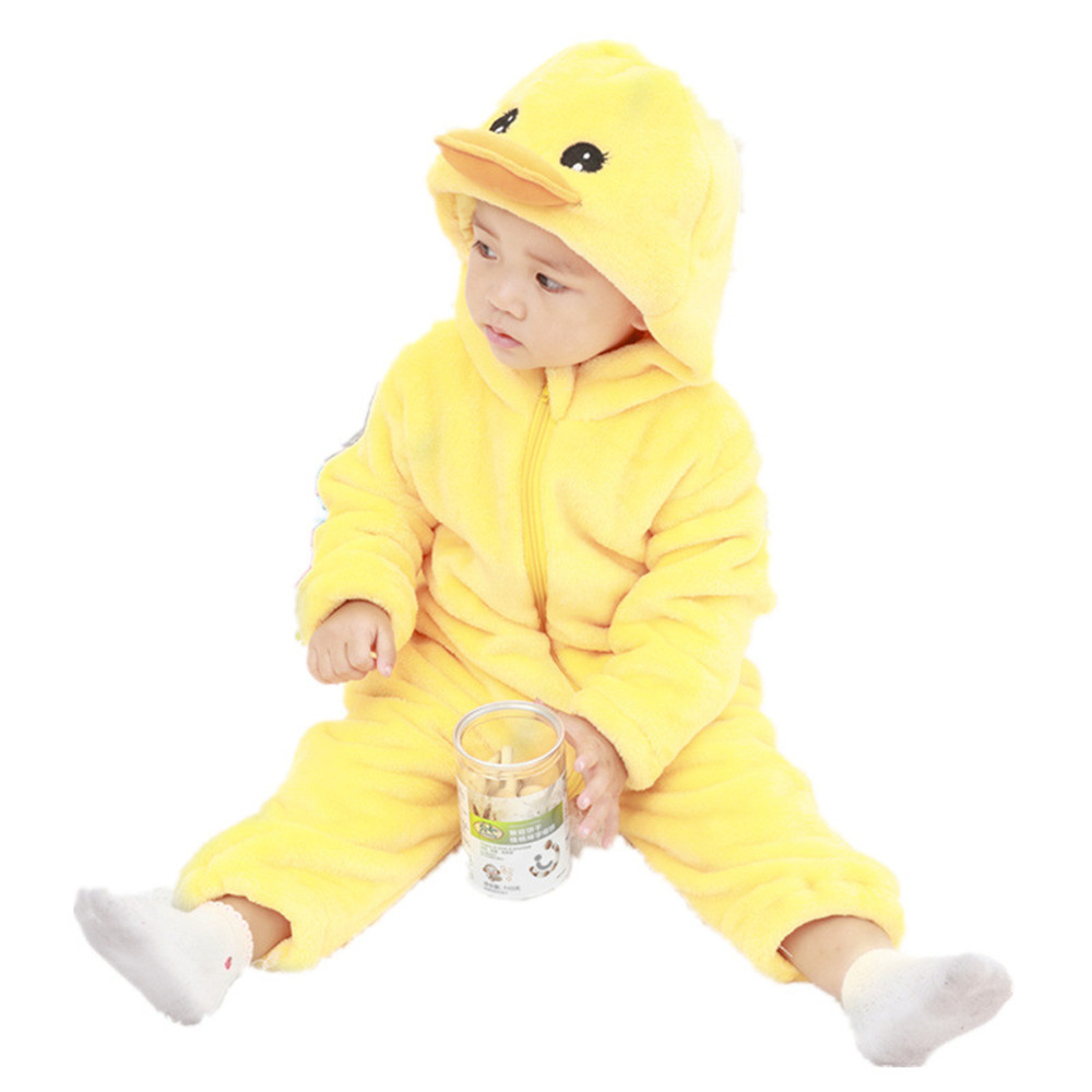 cosplay Baby clothes newborn animal Yellow duck Jumpsuits baby romper girl boy  costumes baby Frog  Carnival purim costume