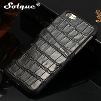 Real Genuine Leather Case For IPhone 6 6S Plus Cell Phone Luxury 3D Crocodile Texture Design