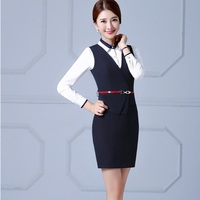 New Arrival Slim Fashion Formal OL Styles Business Suits With Dresses And Blouse For Ladies Office