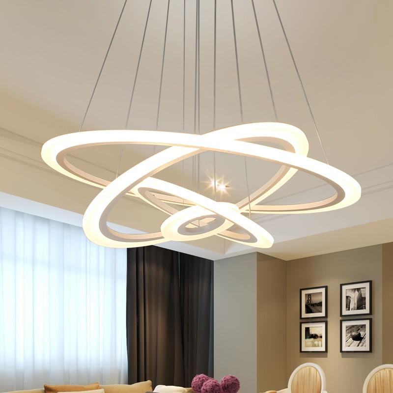 Nordic Modern Led Aluminum Acrylic Lighting Kit Ceiling Hanging Pendant Light Fixtures for Living Room Home Decor Night Lamps