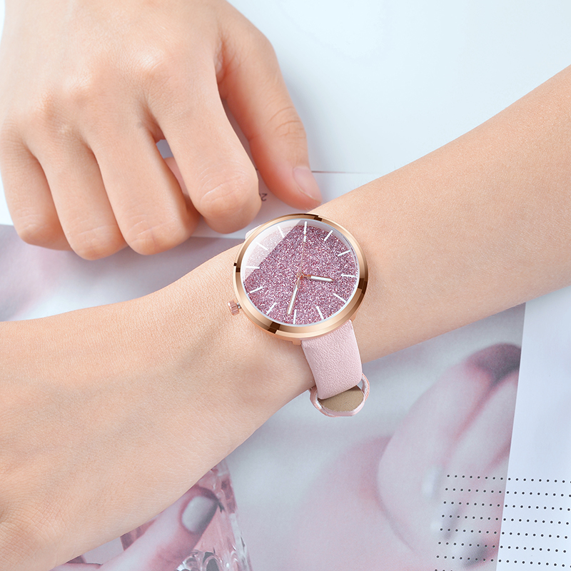 Relogio Feminino 2018 New Fashion Watch Women Romantic Glitter Wrist Watches Leather Ladies Quartz Watches Clock bayan kol saati retro design leather band analog alloy quartz wrist watch relogio feminino women watches reloj mujer bayan kol saati