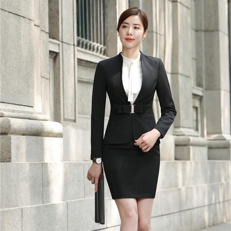 Wear Et La Élégantes Bureau Noir Styles Vin Veste Costumes Uniforme Ensembles Dames Work bourgogne Blazer Femmes Rouge Avec Jupe D'affaires Formelle ganzqZ00