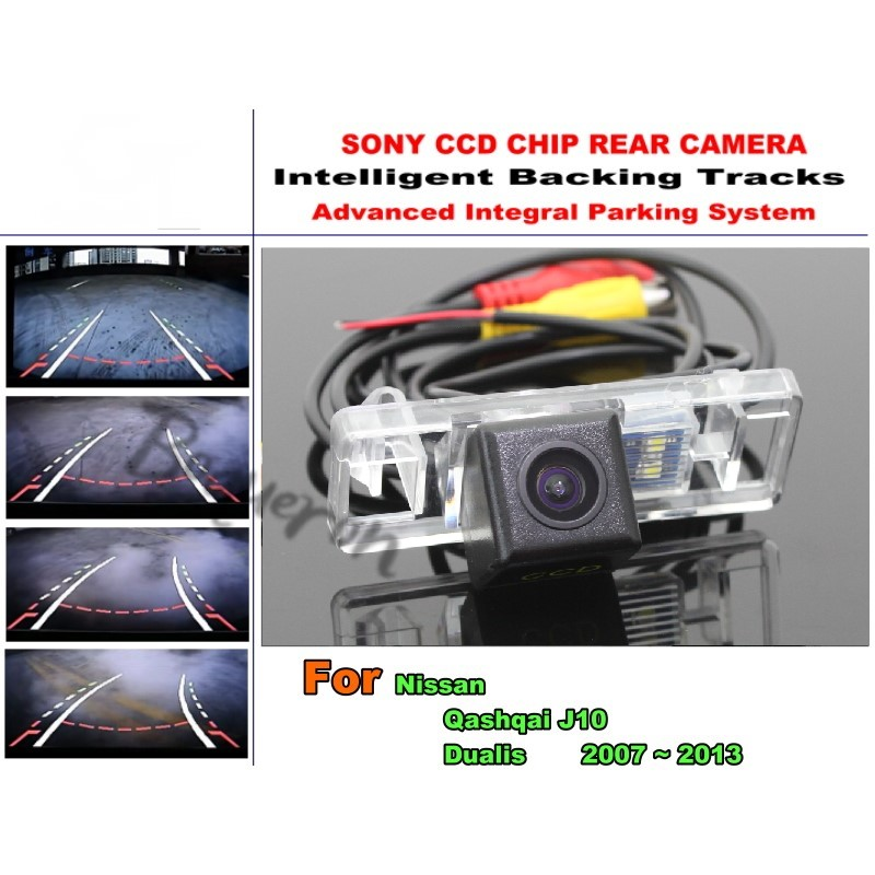 Car Electronic Rear View Camera For Nissan Qashqai J10 Dualis 2007 2013 License Plate Lamp Integrative