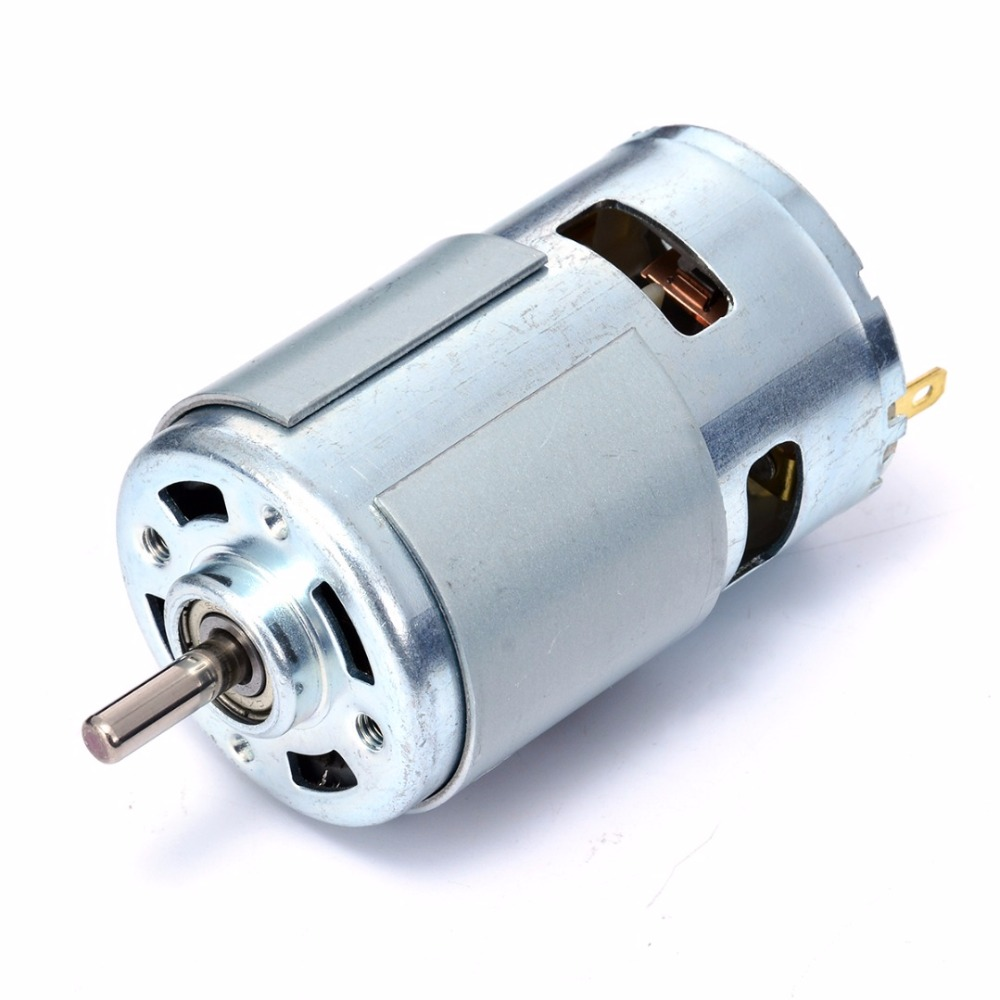 New DC 12V-24V Large Torque Motor High-power Low Noise 775 Motor Ball Bearing Tools large torque high power motor 775 dc motor 12v 300w 18500 rpm diy