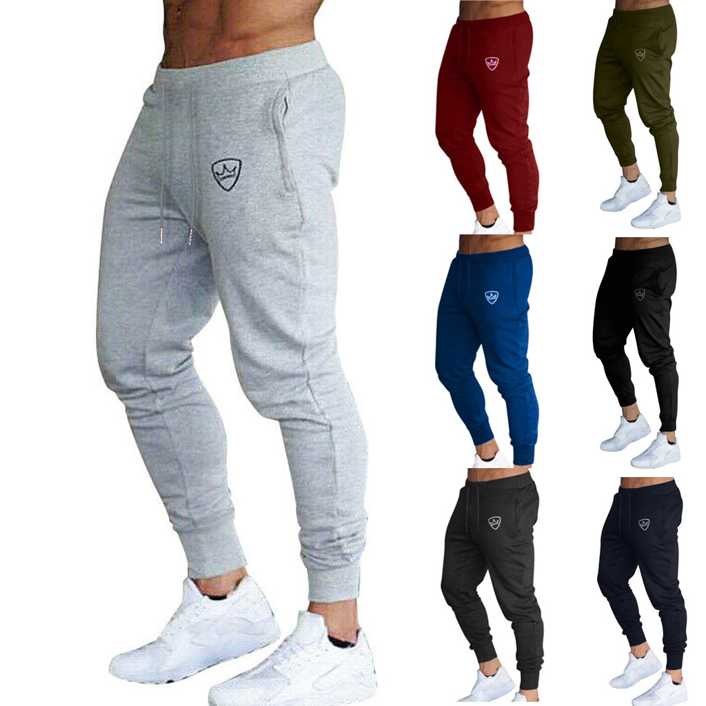 Summer Fashion Men's Tracksuit Slim Fit Casual  Sport Sweat Pants Trousers High Quality Casual  Travel
