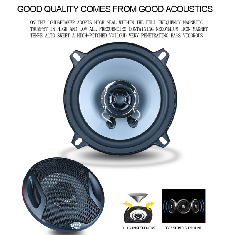 2Pcs 5 Inch 2-Way 200W 89dB 55-22KHz Car Coaxial 4OHM Auto Audio Stereo Speaker Full Range Bubble Gum Edge Speakers цена 2017