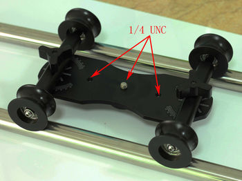DIY DSLR Video Camera U groove wheel Table Top Compact Dolly Kit for 5D II 5DIII 5D 7