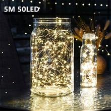 5 м 50 LED CR2032 светодиодная гирлянда на батарейках для рождественской вечеринки, свадьбы, украшения, Рождественская гирлянда