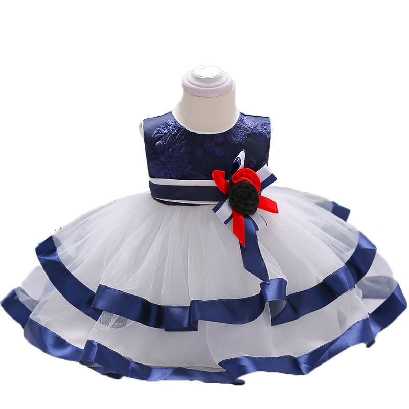Girl Bridesmaid Dress Fashion Casual Comfort Baby Flower Children Party Wedding Princess Dress in Dresses from Mother Kids