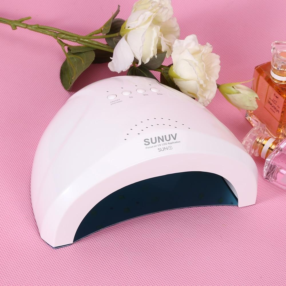 SUNUV 48W Phototherapy Nail Gel Lamp Nail Dryer Lamp UV LED Manicure Nail Dryer for UV Gel LED Gel Nail Machine Infrared Sensor nail dryer