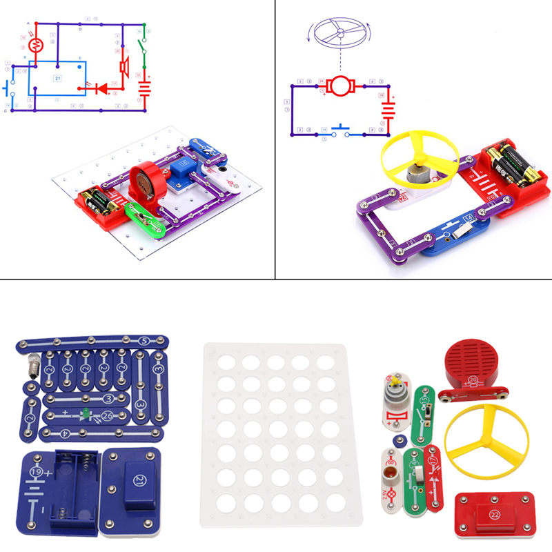 Snap Circuits Electronics Discovery Blocks Kit Science DIY Educational Toy Kids W15 жаровня scovo сд 013 discovery