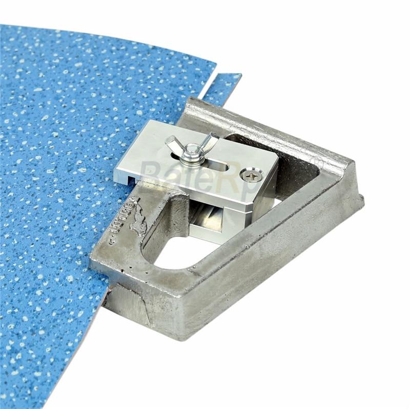 BateRpak taglierina per bordi da parete in PVC, taglierina per pavimenti in alluminio con impugnatura in alluminio, dimensioni del bordo tagliato 10-23mm regolabile, con lama da 5 pezzi