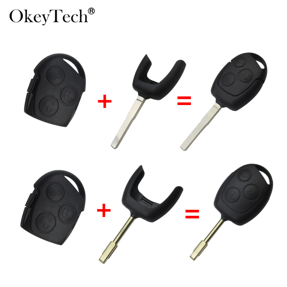 Car key shell for ford