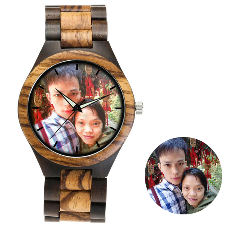 zebra wooden band watch color