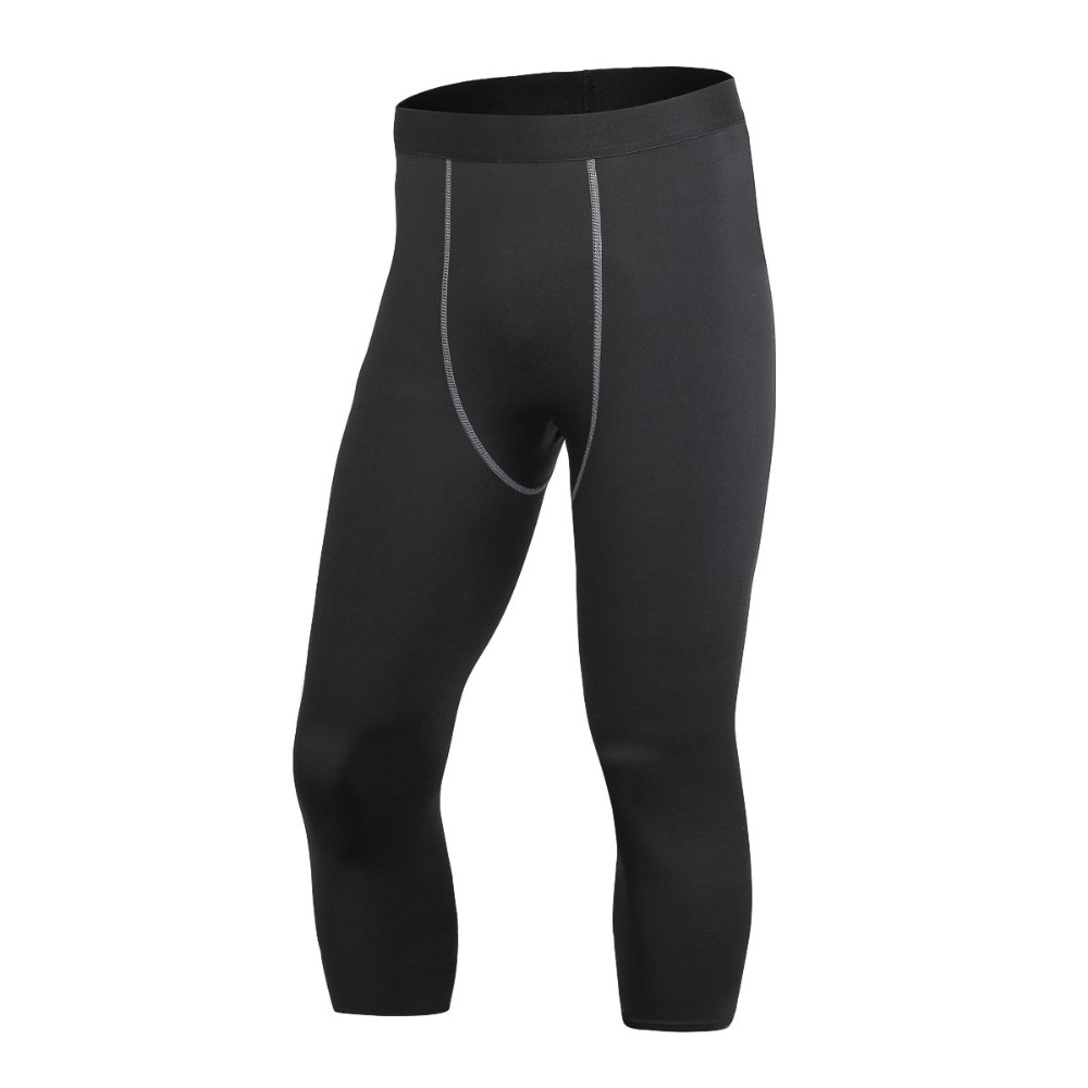 Mens Athletic Gym Long Pants Compression Running Workout Under Tights Base Layer