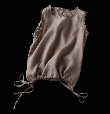Summer Art Retro Linen Vest...