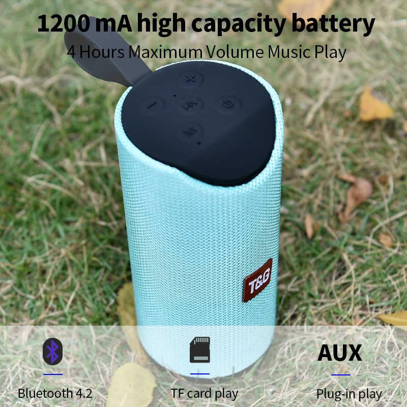 Altavoz Bluetooth TG113 altavoz al aire libre columna inalámbrica con anillo portátil 3D estéreo graves caja de música soporte FM TFCard
