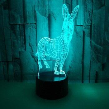 Акриловые 3D Животные Светодиодные ночные светильники Usb разъем в креативные подарки красочные светодиодные лампы для спальни стол