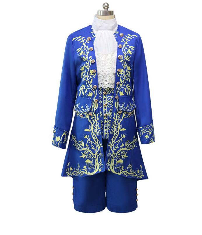 TPRPCO Beauty and the Beast Cosplay Adult Costumes Prince Adam Cosplay Clothes Adam Men halloween Party Clothes Suits N5001