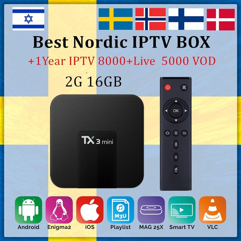 TX3 mini smart tv box android 7.1 2G16GB + PRO IPTV abonnement Schweden Nordic IPTV UNS Brasil Israel Dutch IPTV m3u android tv box-in Digitalempfänger aus Verbraucherelektronik bei  Gruppe 1