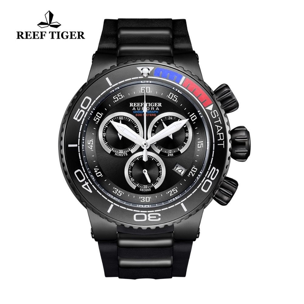 2018 New Reef Tiger/RT Top Brand Luxury Sport Watch Reloj Hombre Men Waterproof Watches Rubber Strap Quartz Relogio Masculino