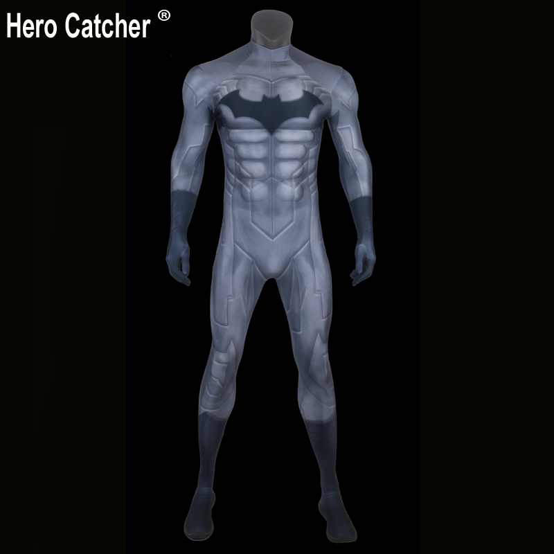 Hero Catcher Top Quality Muscle Padding Batman Costume Spandex Batman Suit With Muscle Padding 3D Print Muscle Shade Batman herbal muscle