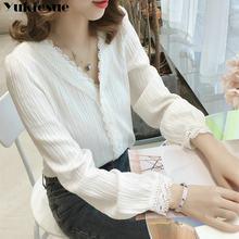 Blusa feminina branca renda plus size, blusa feminina moda harajuku 2019 xxl