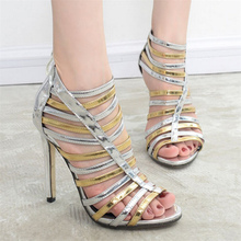 Free shipping spring/summer sexy women's hollow out high-heeled shoes Romanesque style ultra high heel sandals shoes